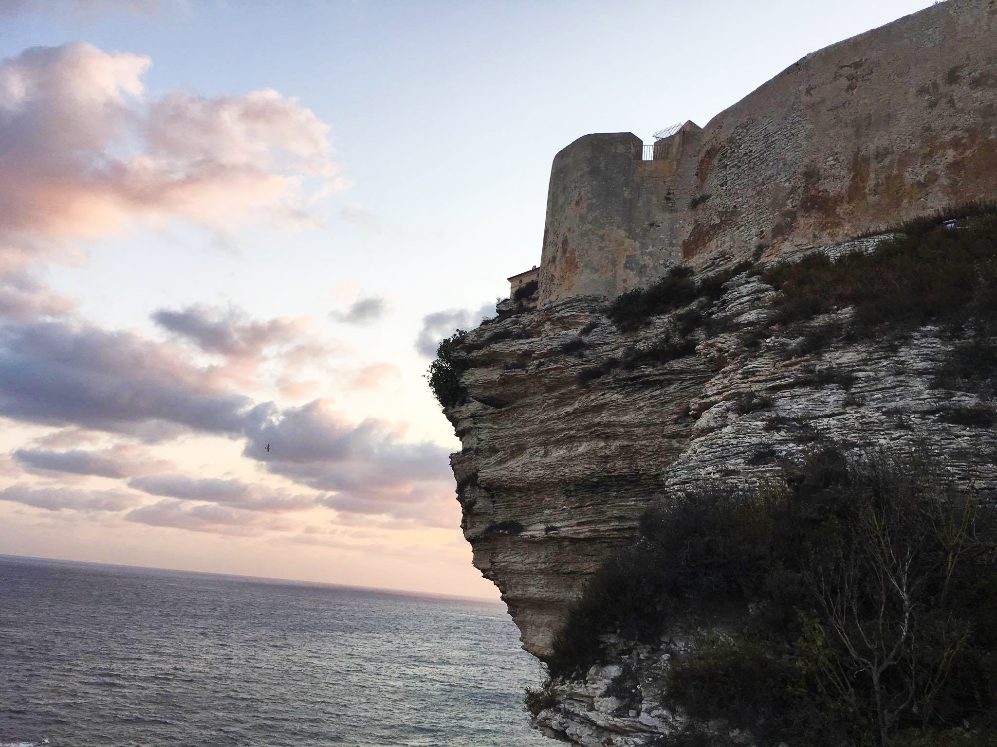 Bonifacio vue de la mer